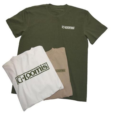 G.Loomis T-Shirt Mocha with Block Logo L
