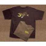 G.Loomis T-Shirt Chocolate with Skeleton Fish Logo XL