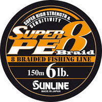 Sunline Super PE 8 Braid 150m 0.6PE 6LB
