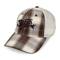 G. Loomis 3-D Skeleton Fish Mesh Back Khaki Hat S/M